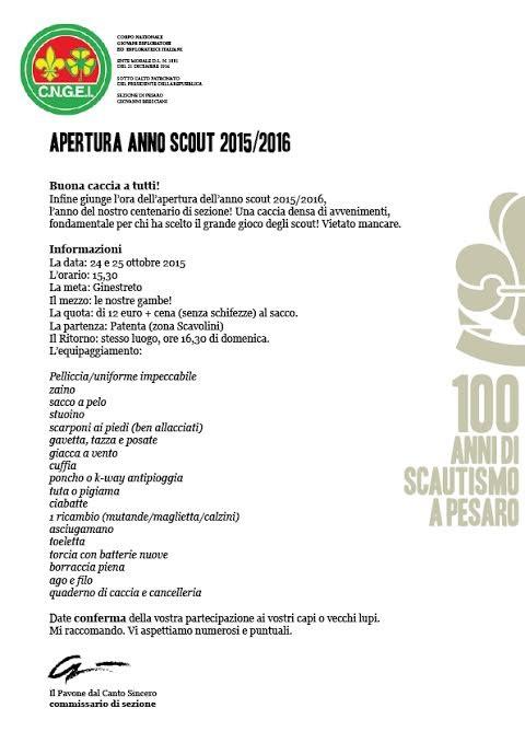 Apertura anno scout 2015